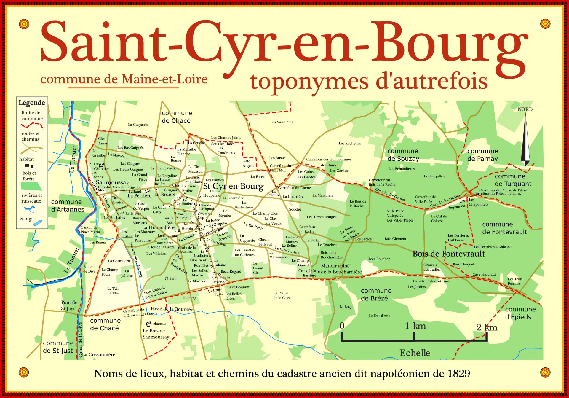 Jolie cadre des toponymes saint cyr 300